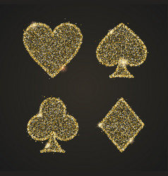 classical suit playing cards with vector image