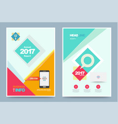 colourful annual report brochure flyer design vector image