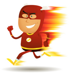 Comic fast running superhero vector