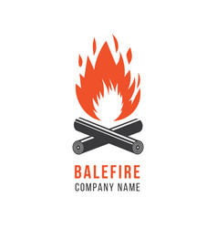 company logo template symbol and icon fire and vector image
