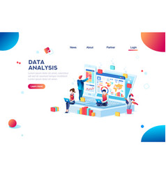 data analysis infographic for banner vector image