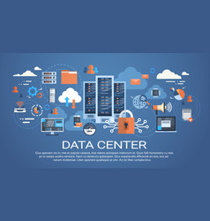 data center cloud computer connection hosting vector image