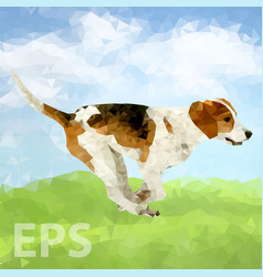 Dog beagle fun pet puppy vector