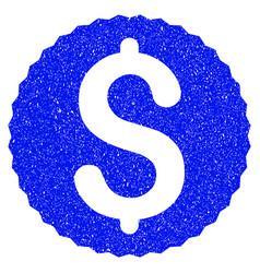 Dollar coin grunge icon vector