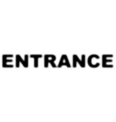 entrance word with half tone dotted effect vector image