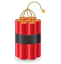 Explosive dynamite vector