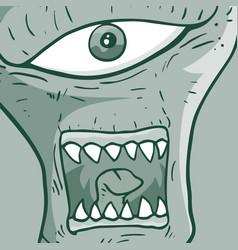 face alien vector image