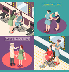 Fashion industry isometric design concept vector