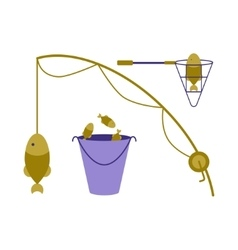 Fishing tackle logo vector