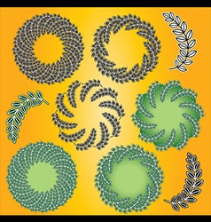 floral texture design vector image