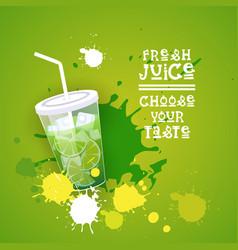fresh juice logo healthy vitamin drink bar vector image