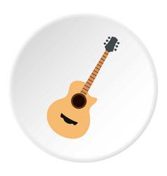 Guitar icon circle vector