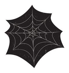 Halloween spider web with grunge textures vector