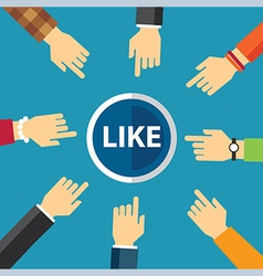 Hand clike like button vector