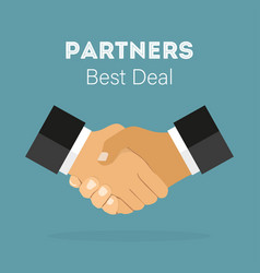 handshake of business partners best deal in flat vector image
