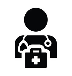 Health icon male doctor person profile avatar sign vector