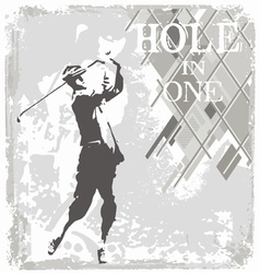 Hole in one golf vector