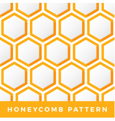 Honeycomb seamless pattern outline hexagon vector