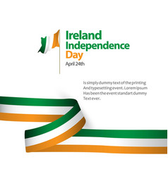 Ireland independence day template design vector