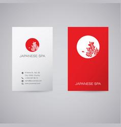 Japanese spa red logo vector