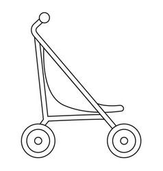 little pram icon outline style vector image