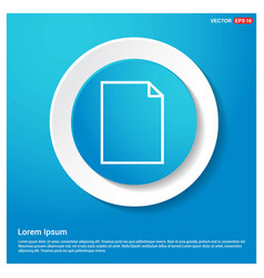 note icon abstract blue web sticker button vector image