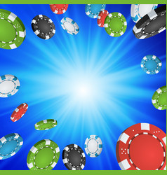 online casino winner background explosion poker vector image