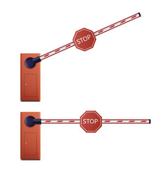 open and closed barrier security or entrance sign vector image