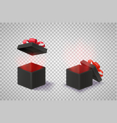opened black boxes clipart isolated on vector image