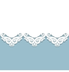 Paper lace border vector