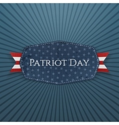 Patriot Day Text on Badge with Ribbon vector image