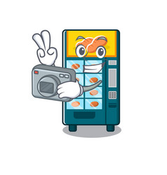 photographer bakery vending machine in a mascot vector image