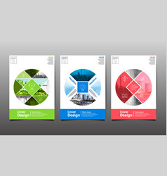 Poster flyer template circle abstact vector