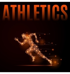 Running man athletics vector image