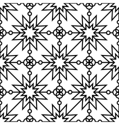 Seamless geometric monochrome pattern vector