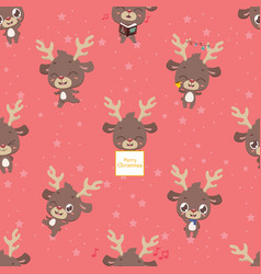 Seamless pattern background with cute little vector