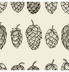 Seamless pattern with hops vector image