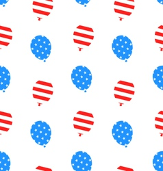 Seamless Texture Balloons for Independence Day vector image