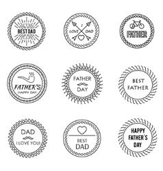 Set of emblem vector image