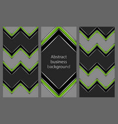 set of leaflets with an abstract pattern vector image
