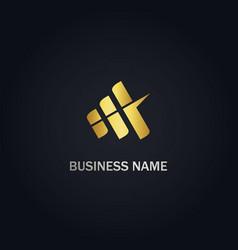 Shape line business logo vector