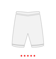 shorts it is icon vector image