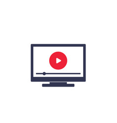 smart tv video streaming service icon vector image