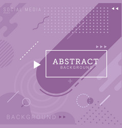 social media post template abstract background vector image