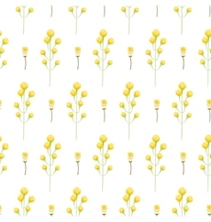 Spring wild yellow flower field seamless pattern vector image