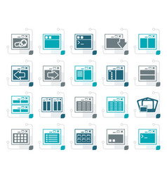 stylized application programming server vector image