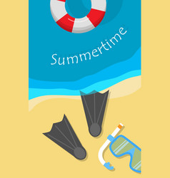 summertime banner vector image