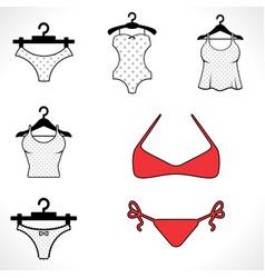 swimsuits or bikini icon vector image