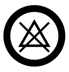 Symbol do not bleach icon black color in circle vector
