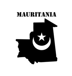 Symbol of mauritania and map vector